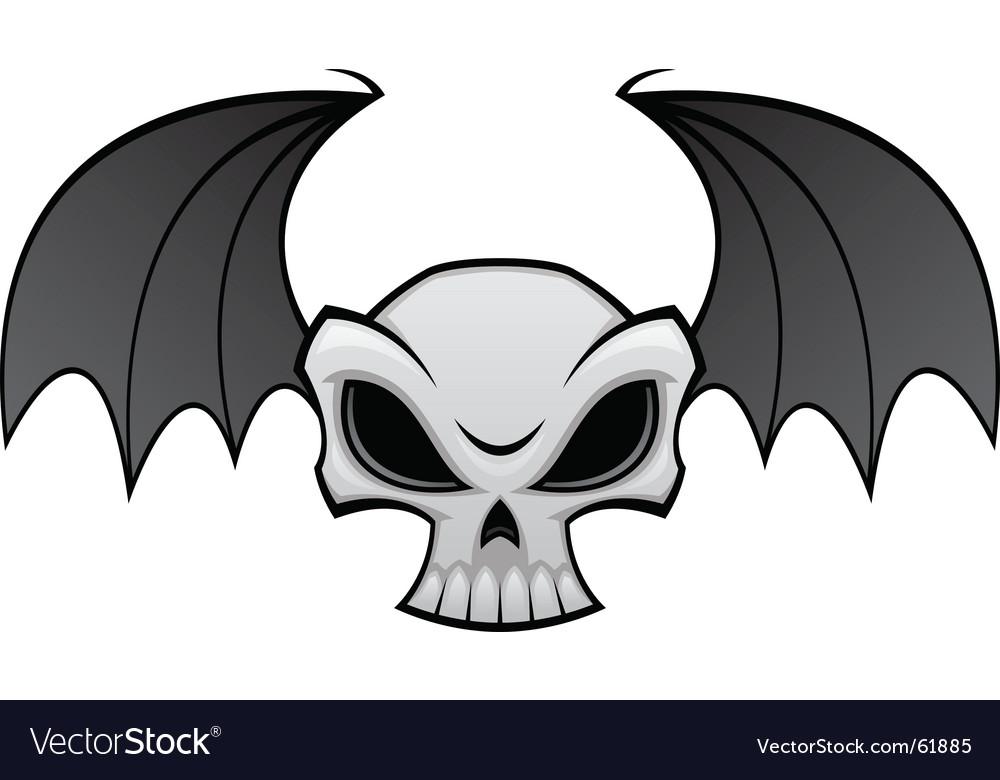 Batwing skull vector image