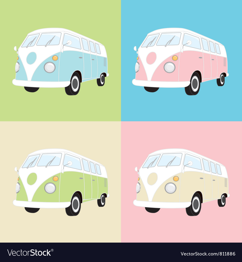 Camper Van Multiple vector image