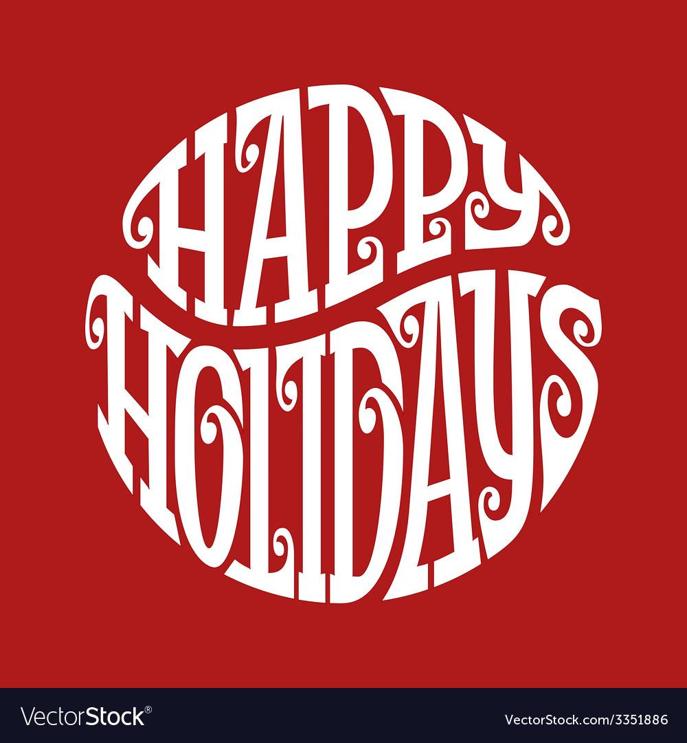 Happy Holidays vector image