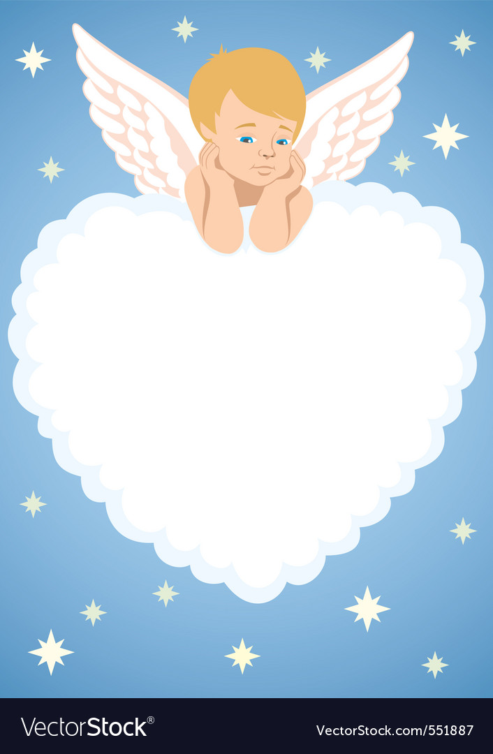 Cupid frame vector image