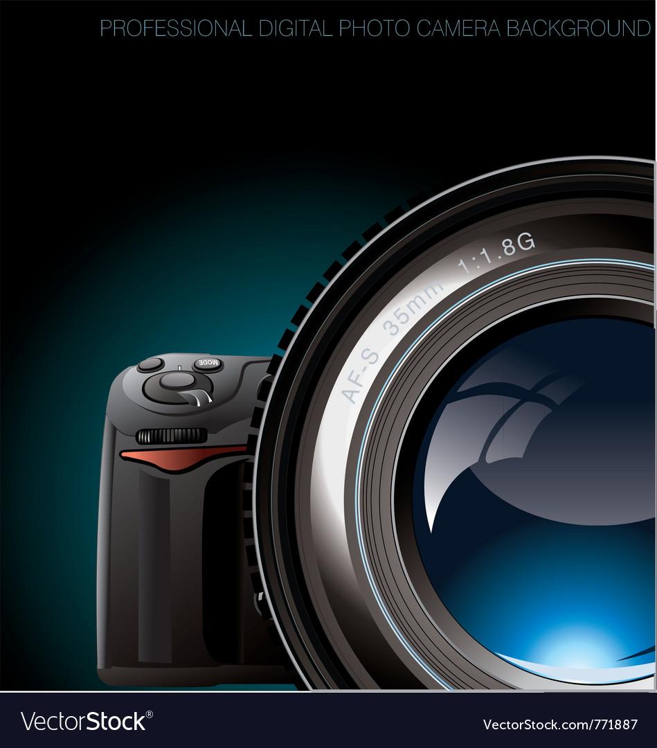 Professional digital photo camera background Vector Image