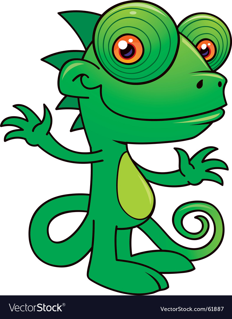 Chameleon character vector image
