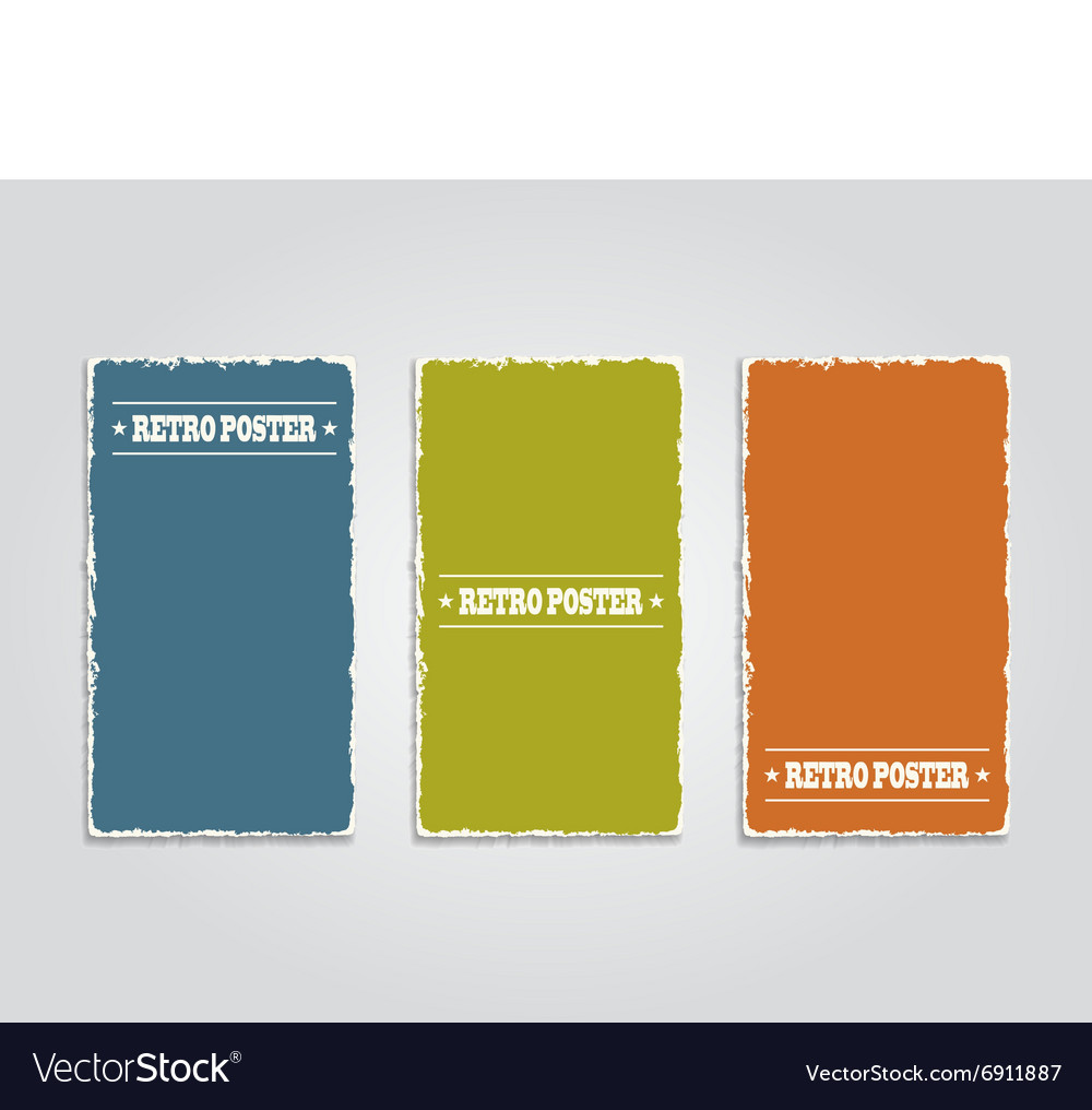 Grunge banner template vector image