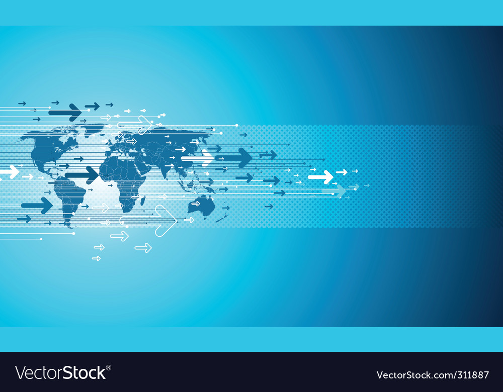 Map site business vector image