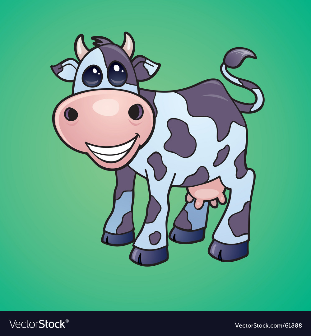 Cow mascot vector image