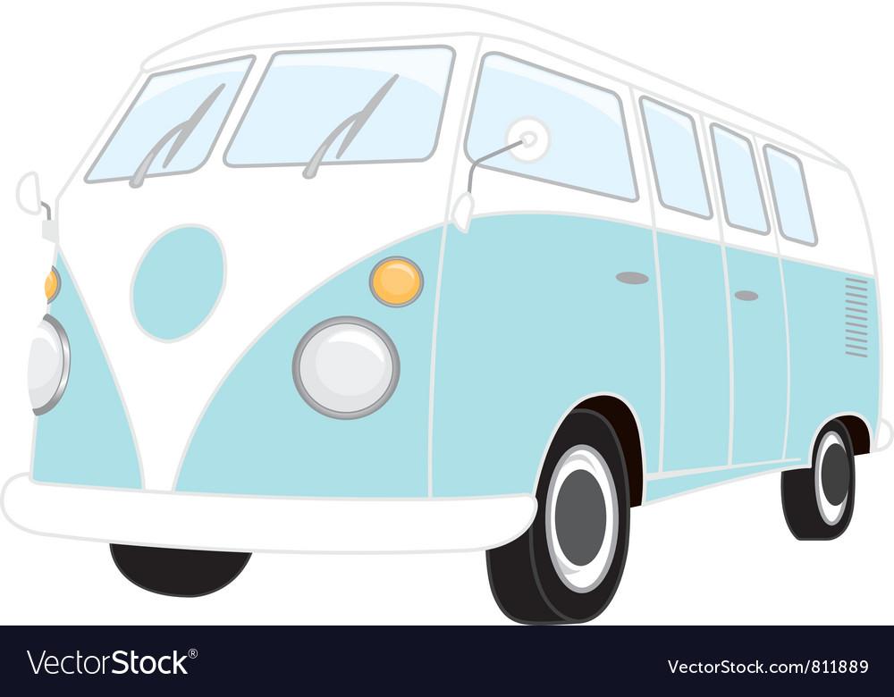 Camper Van Retro vector image