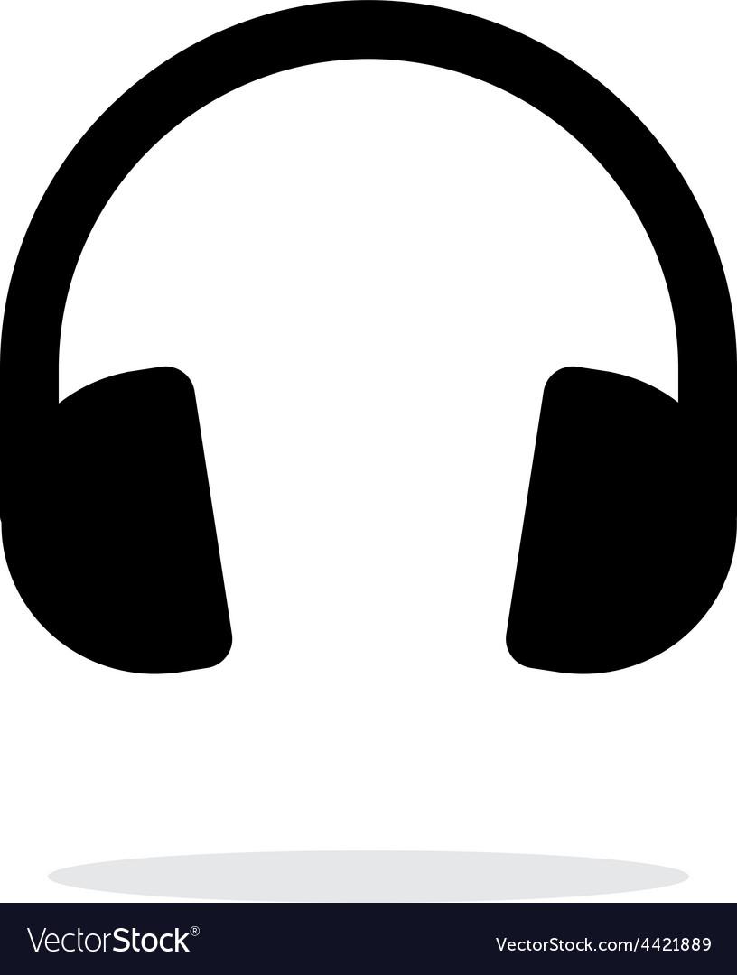 Dj Headphones icon on white background vector image