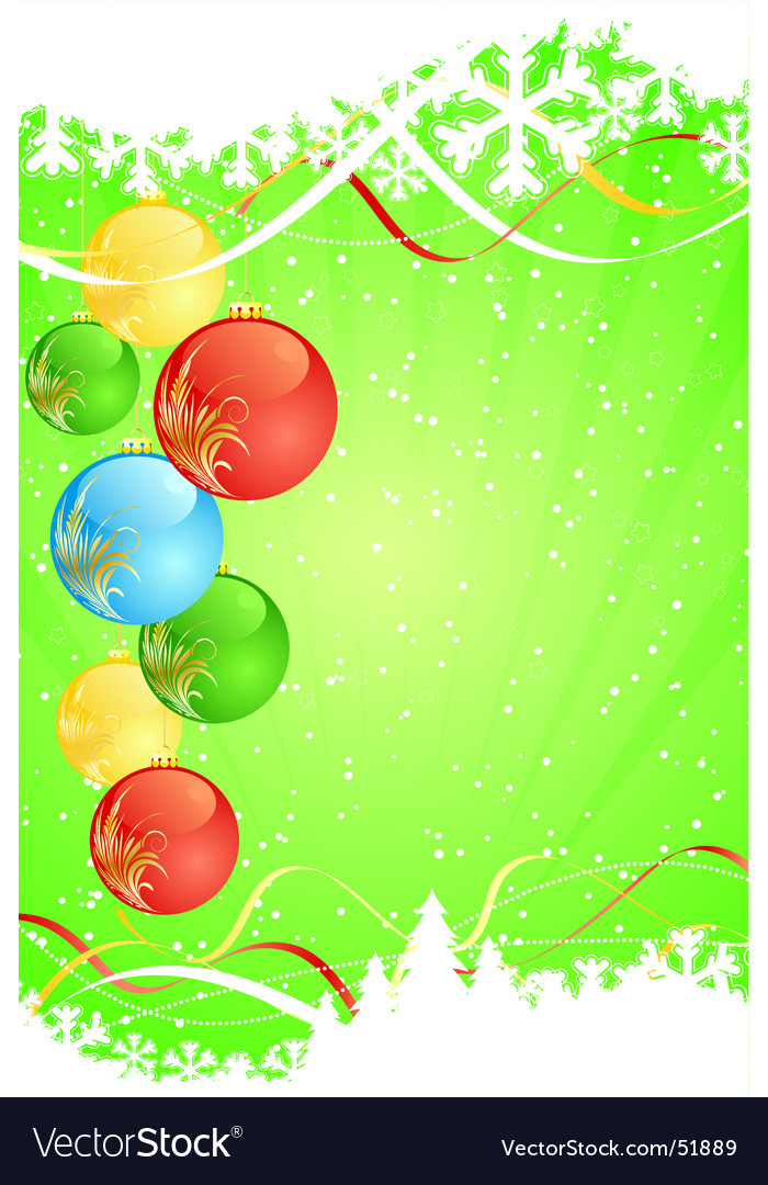 Winter green decorative vector image