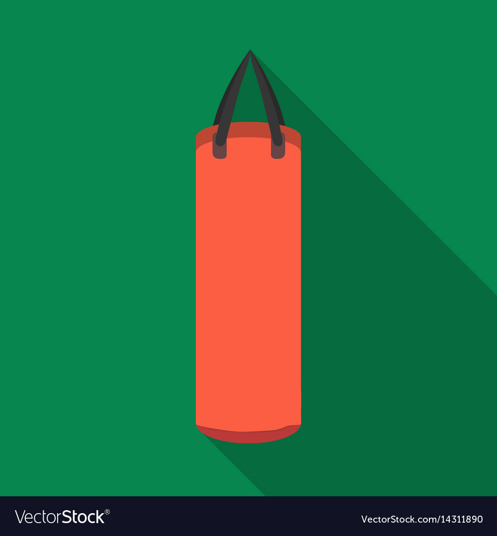 Boxing punching bag icon in flate style isolated vector image