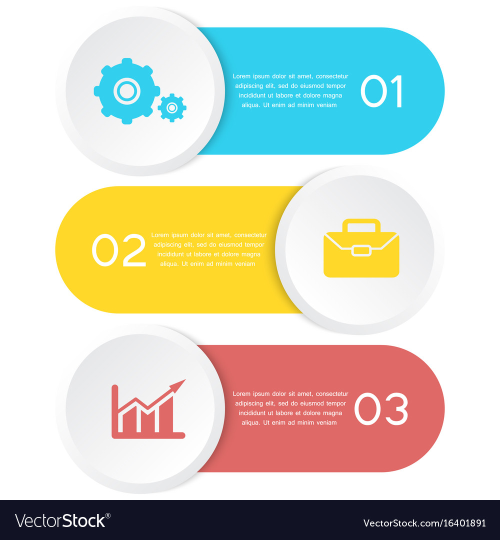 Abstract template element for infographic vector image