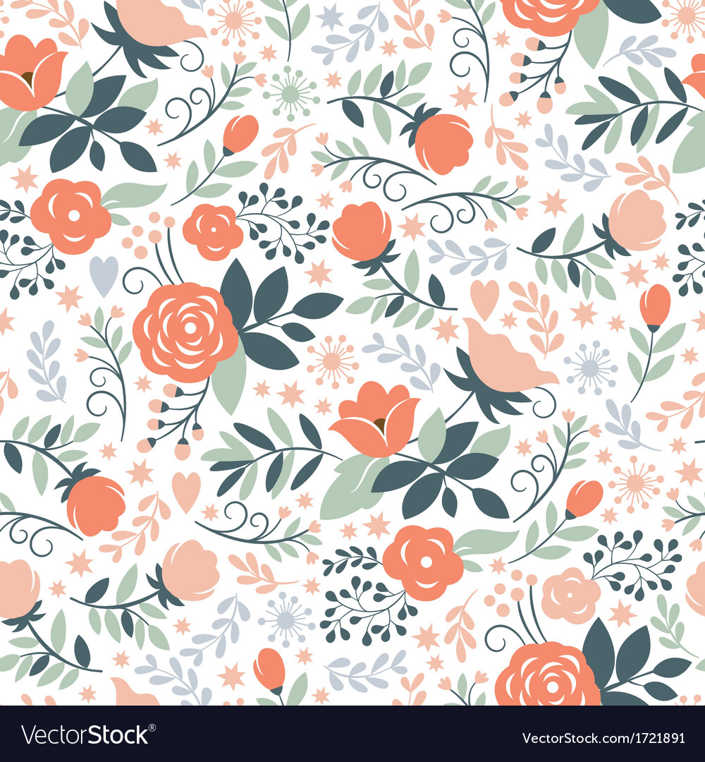 Beauty floral pattern vector image
