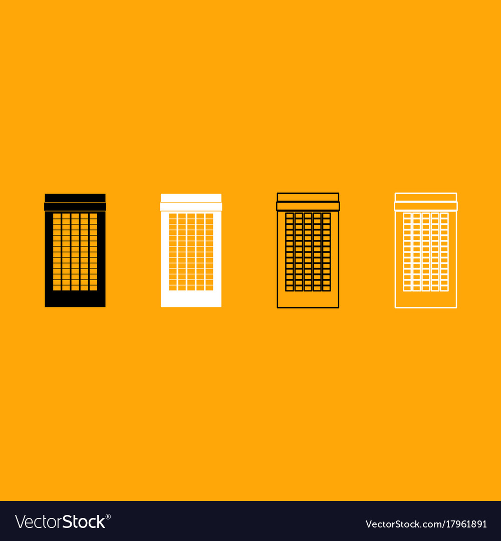 Building black and white set icon vector image