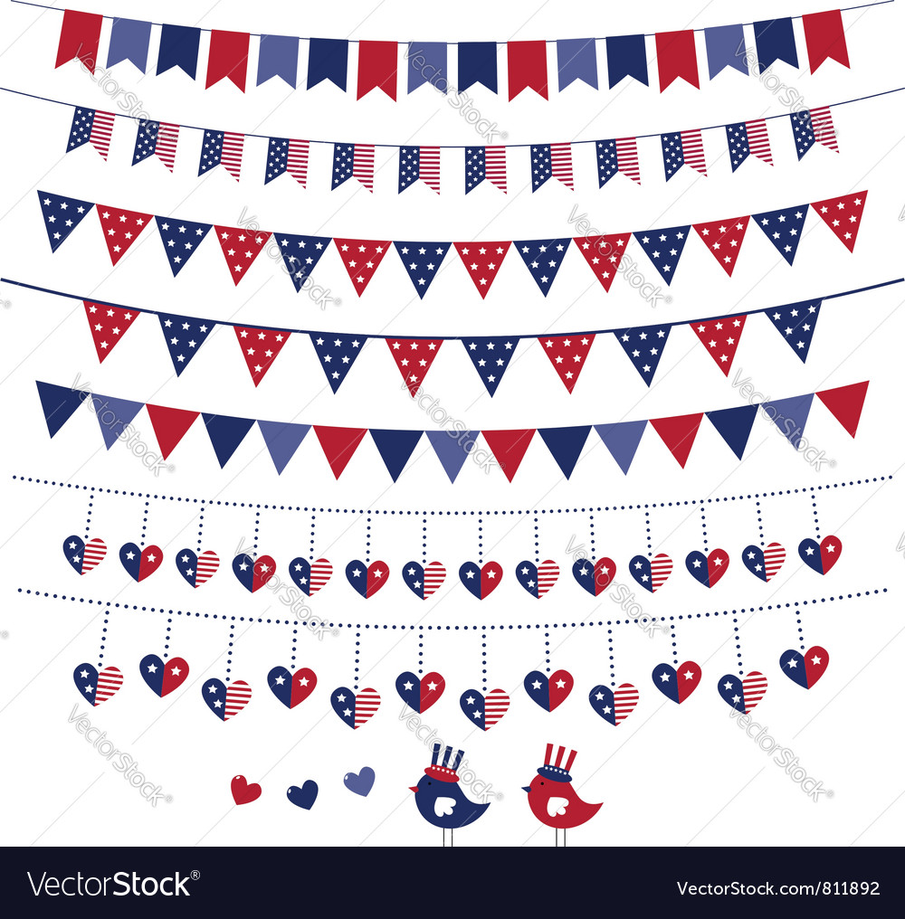 American flag themed vector image