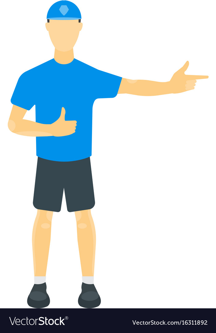 A guy in a t-shirt shorts vector image
