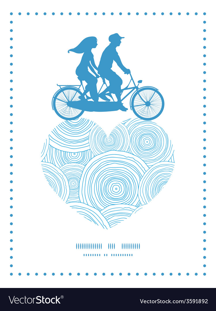 Doodle circle water texture couple on tandem vector image