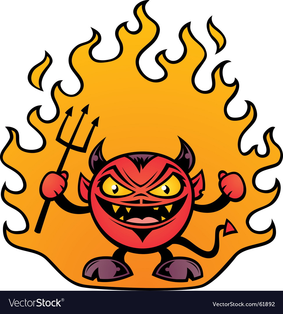 Fat devil character vector image