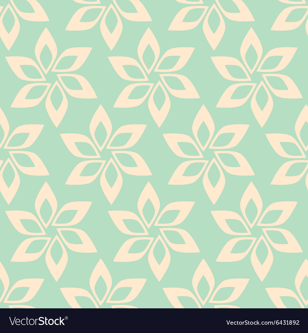 Simple flower seamless pattern vector image