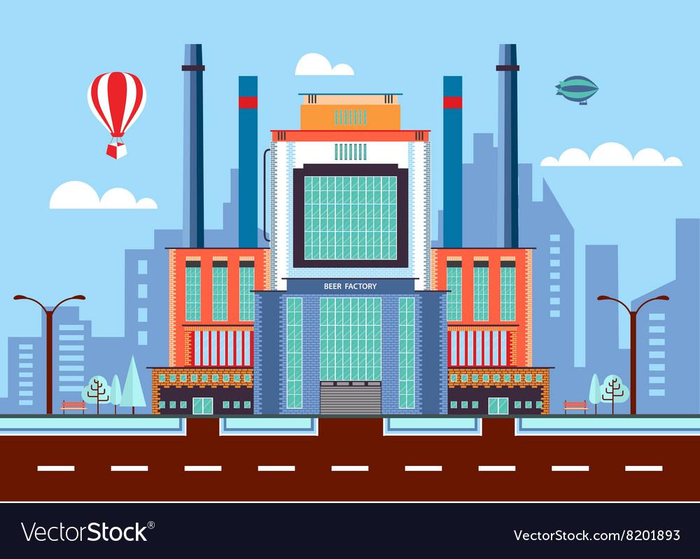 Beer factory 1 vector image