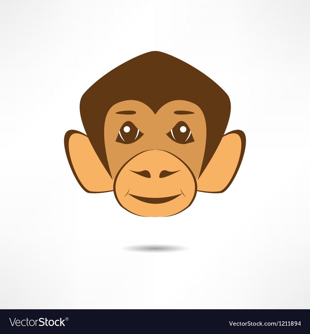 Smiling monkey vector image