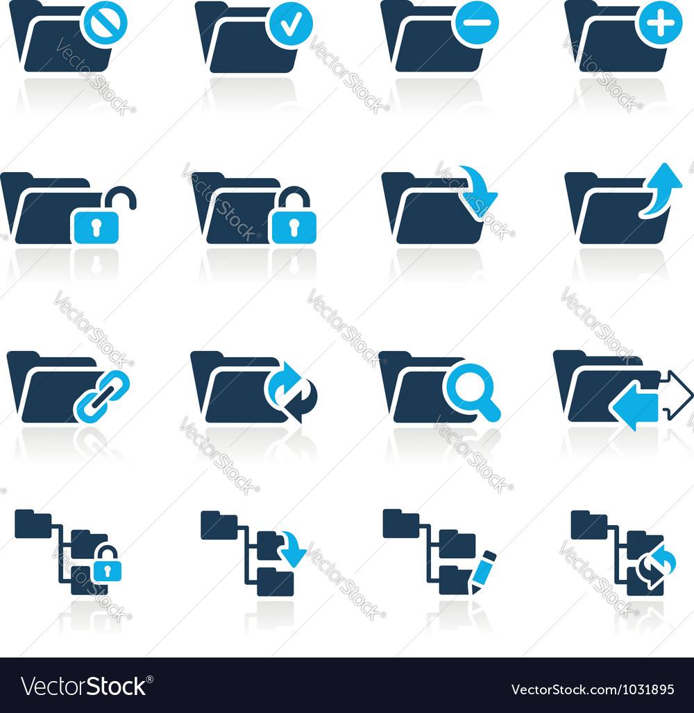Folders Icons 1 Azure Series vector image