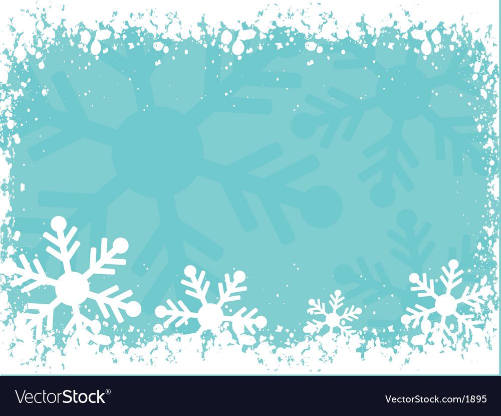 Snowy border vector image