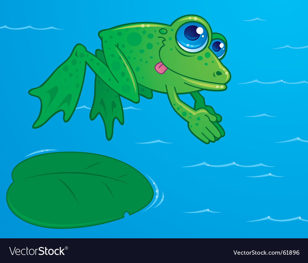 Diving frog vector image