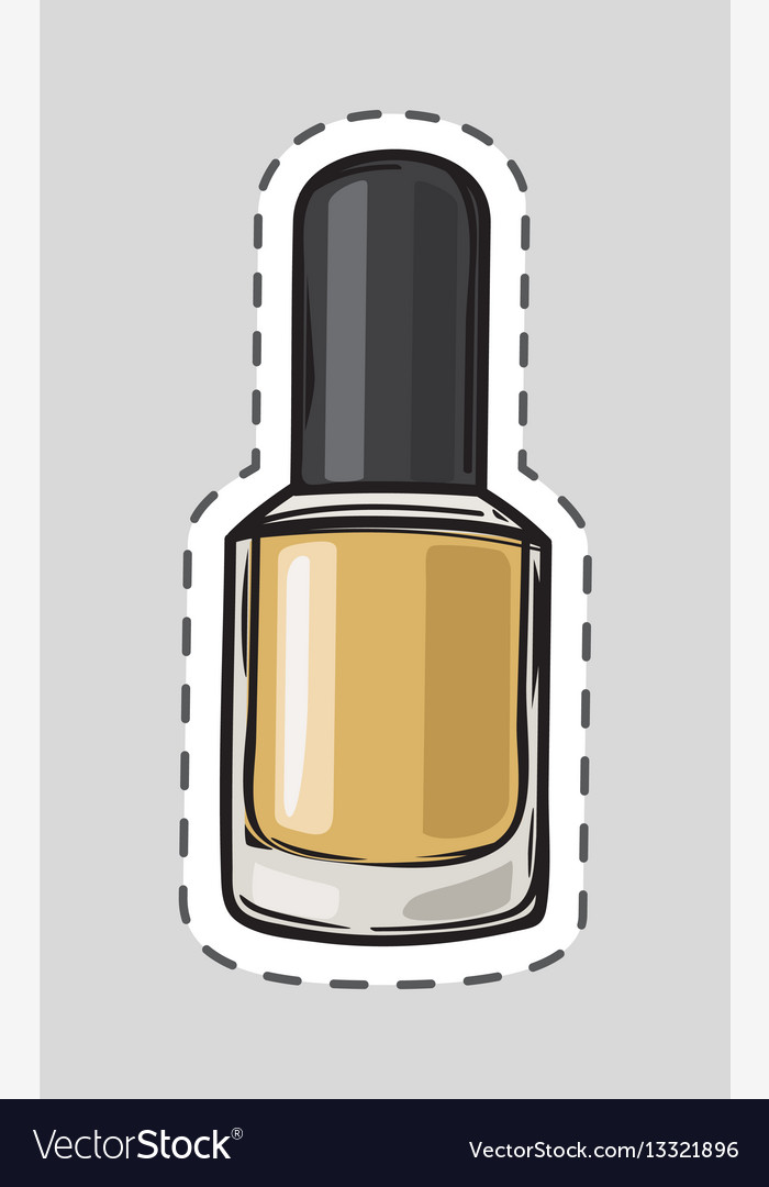 Nail polish patch with dashed line women accessory vector image