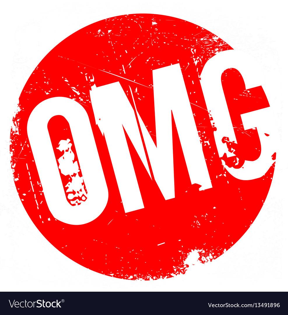 Omg rubber stamp vector image