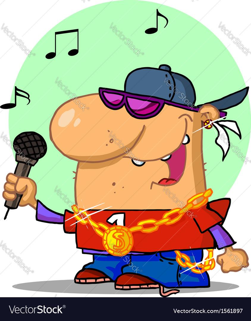 Hip hop cartoon vector image