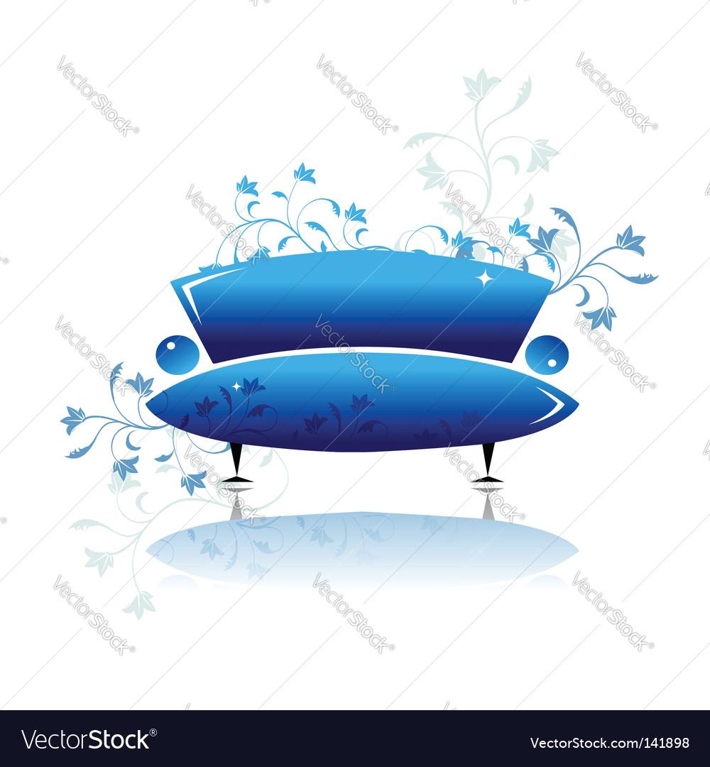 Sofa design vector image