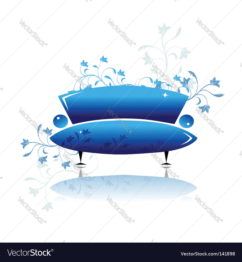 Sofa design vector image