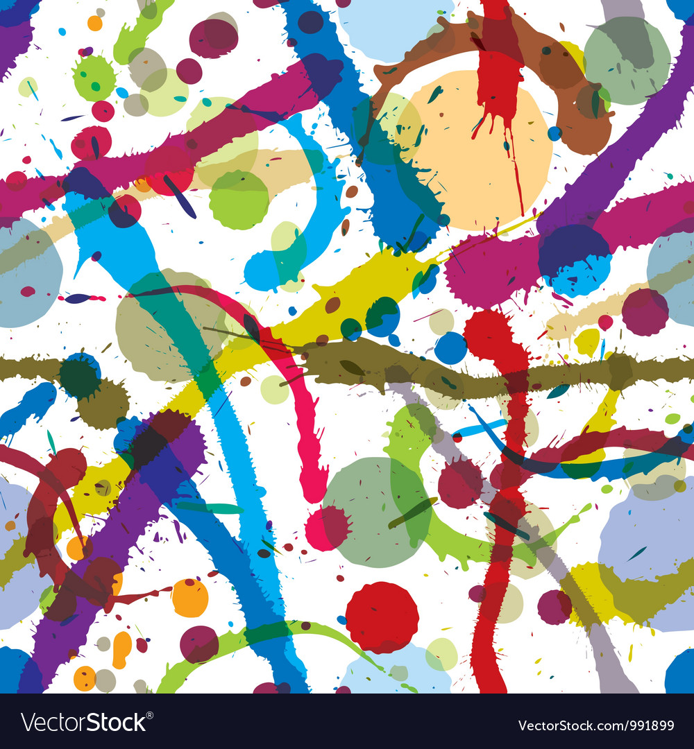 Ink splatters seamless pattern vector image
