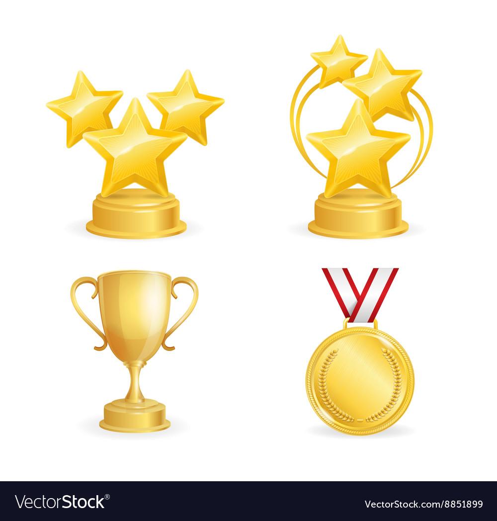 Awards Set vector image