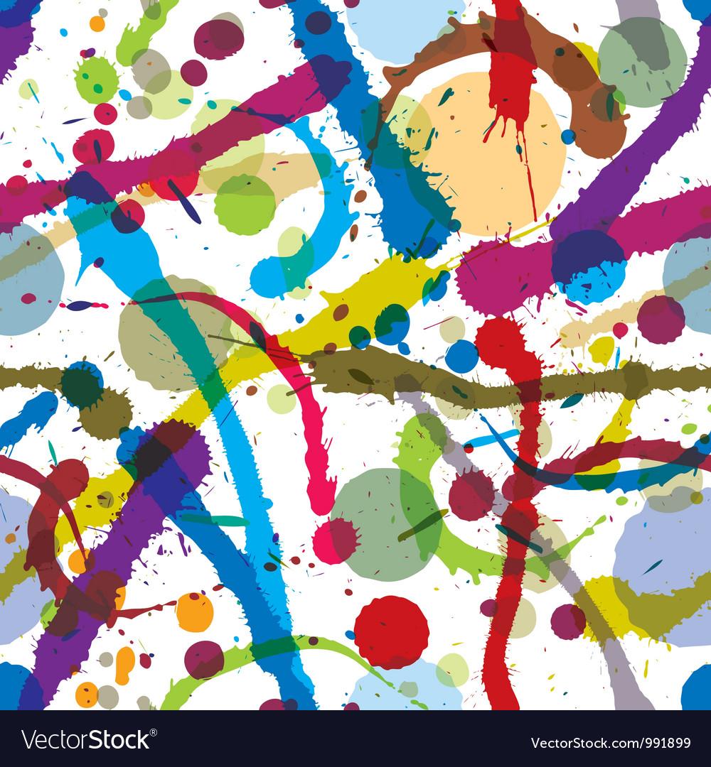Ink splatters seamless pattern vector image