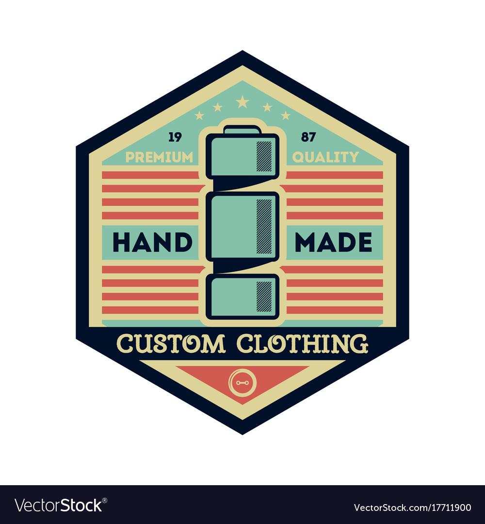 Custom clothing studio vintage isolated label vector image