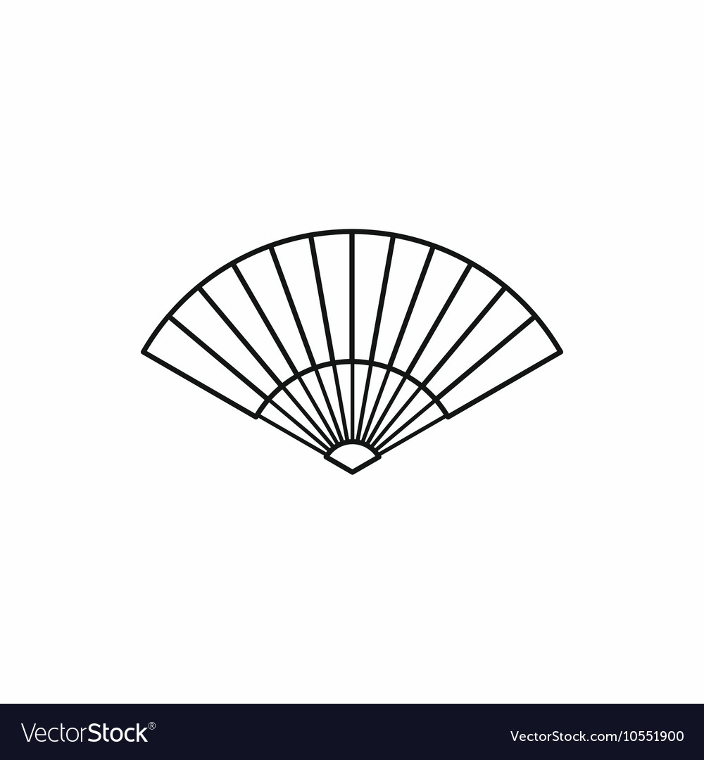Japanese fan icon outline style Royalty Free Vector Image
