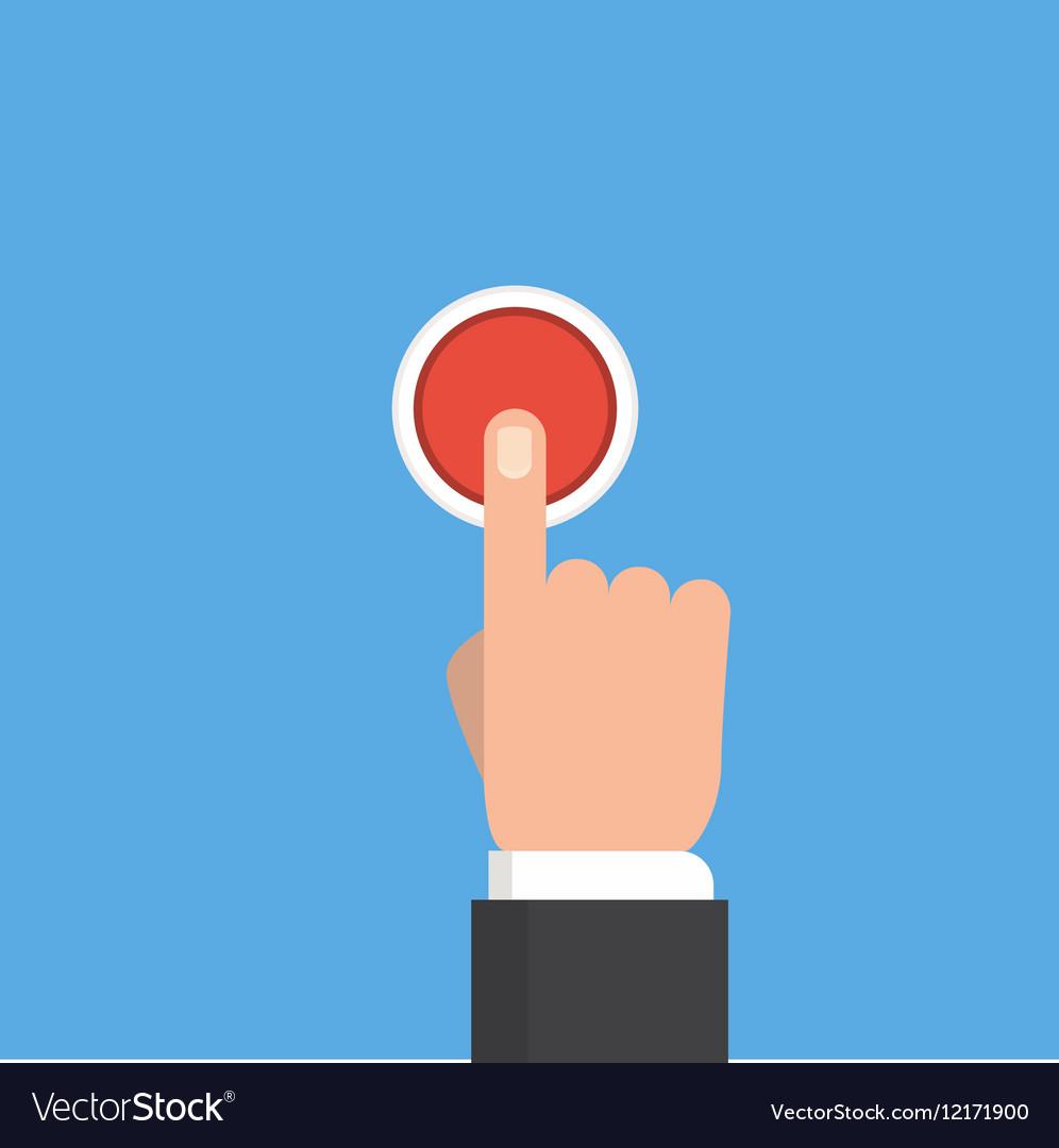 Pressing button Button vector image