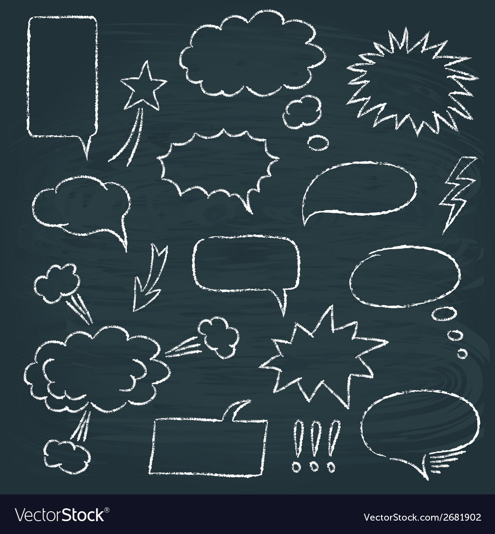 Comics style speech bubbles set vector image