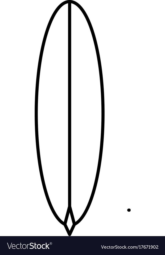 Surf board icon vector image