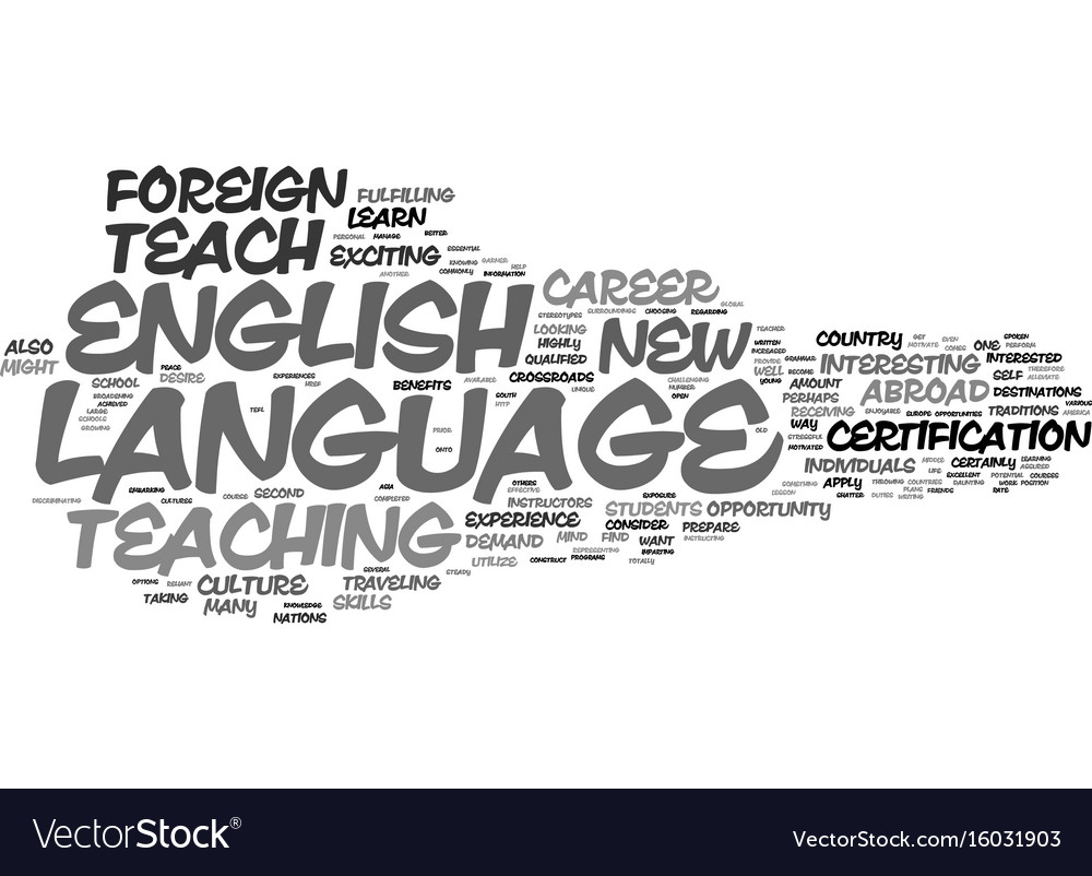 Learn to teach english as a foreign language text vector image 1betcityfo Image collections
