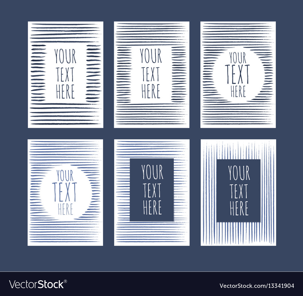 Artistic background templates vector image