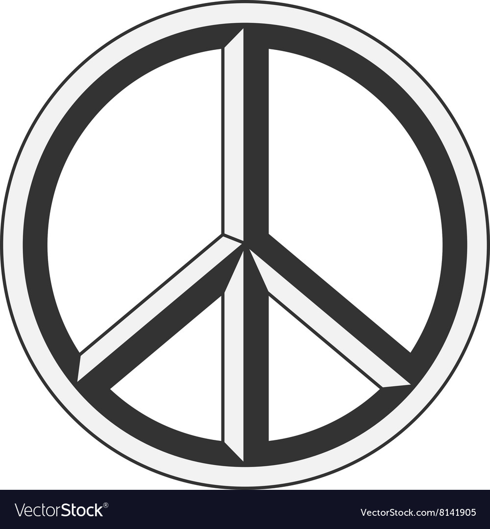 Peace sign hippie symbol of peace royalty free vector image peace sign hippie symbol of peace vector image buycottarizona