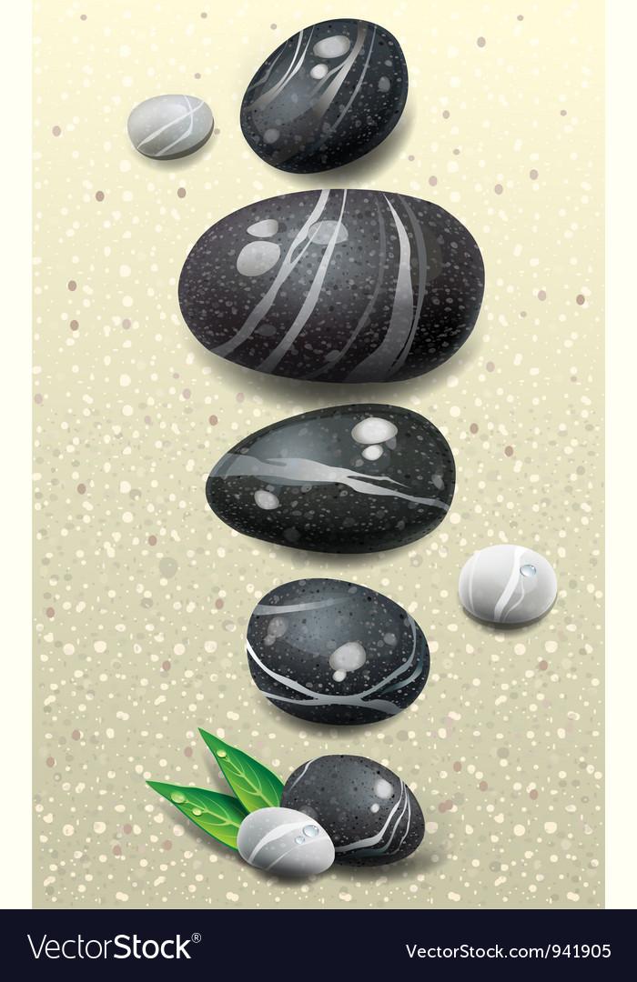Set of stones vector image