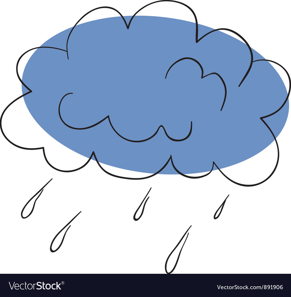 Thunderstorm vector image