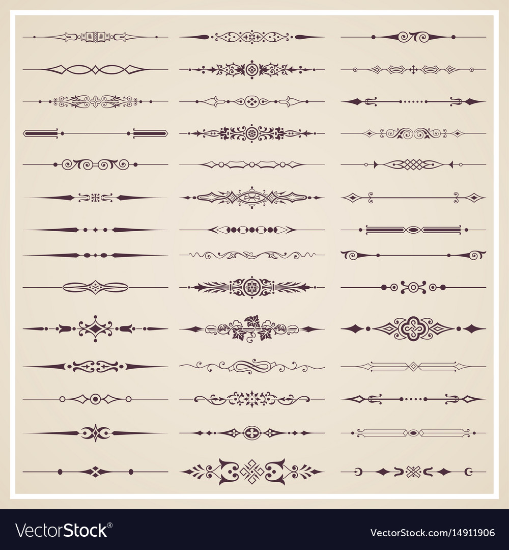 Decorative calligraphic dividers vector image