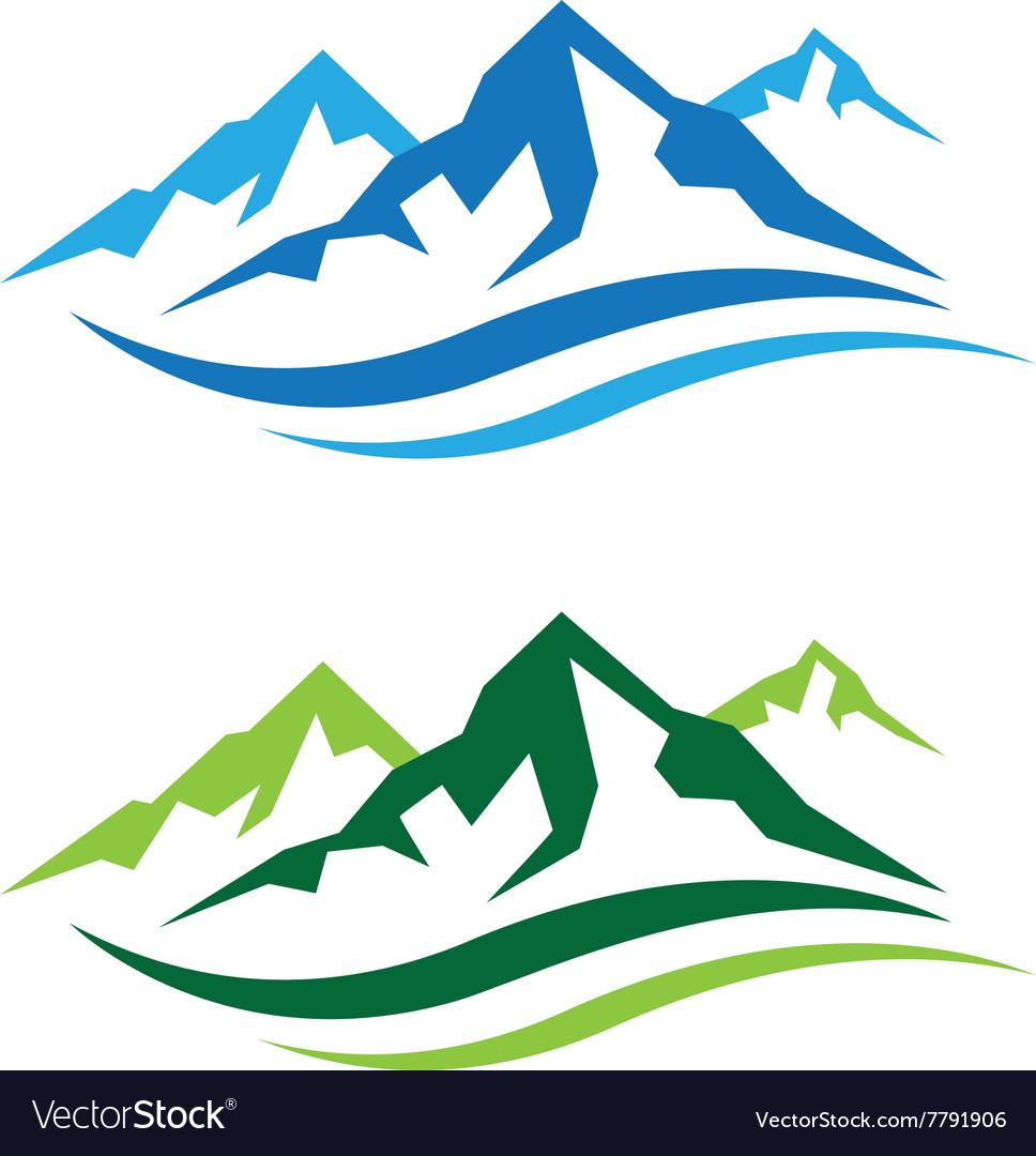 Mountains Logo Royalty Free Vector Image Vectorstock