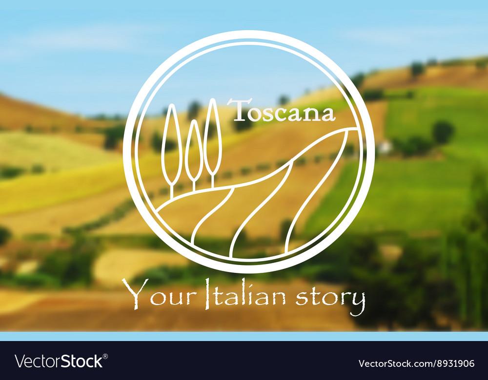 Toscana Italian landscape vector image