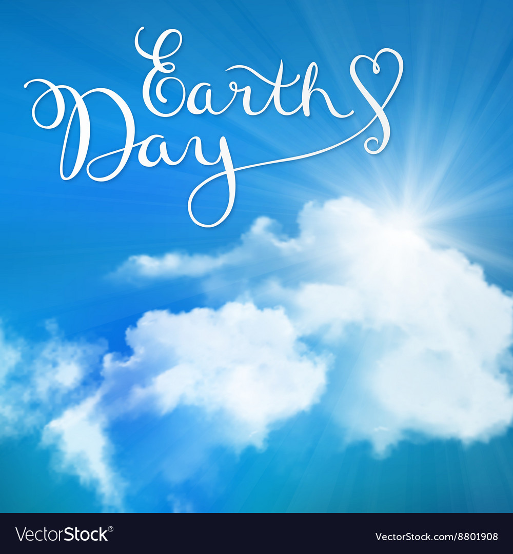 Happy earth day handmade calligraphy vector image
