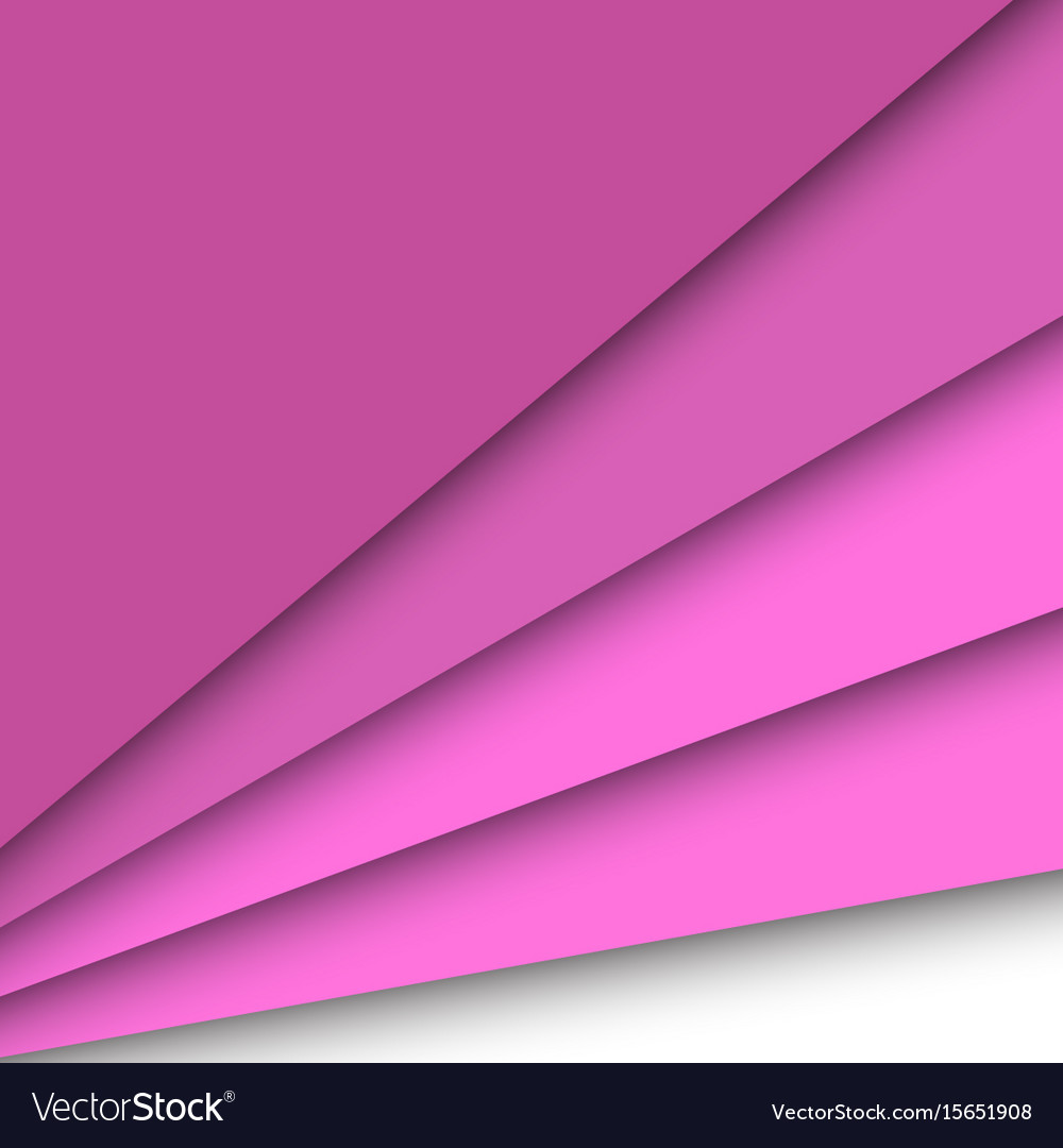 Pink paper overlapping abstract background vector image