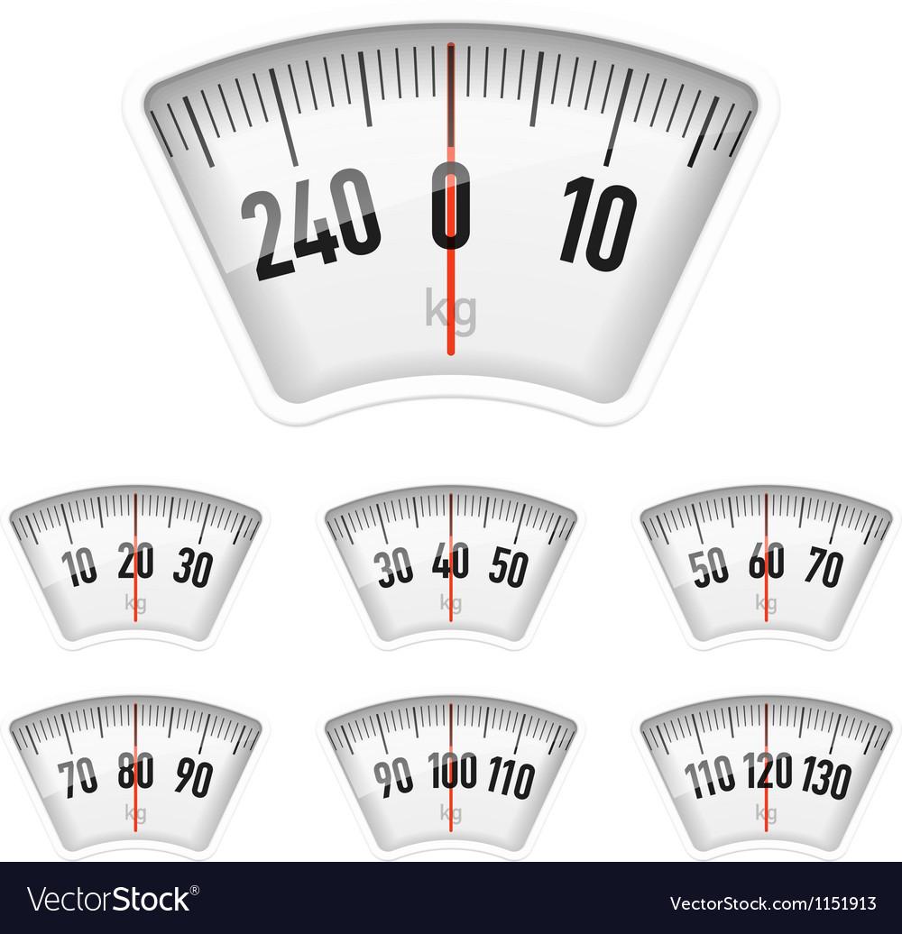 Bathroom scales dial vector image